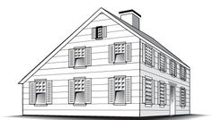 Saltbox: This New England Colonial style got its name because the sharply sloping gable roof that resembled the boxes used for storing salt. The step roofline often plunges from two and one-half stories in f