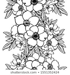 Similar Images, Stock Photos & Vectors of Flower design elements vector - 252583555 Stencil Patterns, Doodle Drawings, Flower Designs, Design Elements, Vectors, Coloring, Royalty Free Stock Photos, Abstract, Elegant