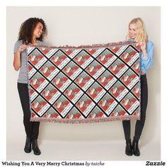 Wishing You A Very #MerryChristmas #ThrowBlanket #customgifts #customgifts #ATSocialMediaUK ATSocialMediaUK #christmasgifts #fatherchristmas #xmas #merrychristmas #santaclaus #vintagechristmas #christmaspresents #christmasdecor