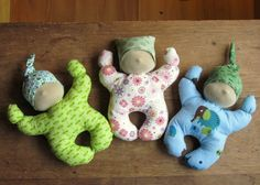 Waldorf Inspired Baby Doll sewing pattern and tutorial perfect for a toddler. $4.00, via Etsy.