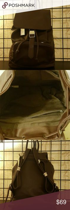"Fashion backpack Brown. 15"" * 5"" * 15"". Brand new. Faux leather. Bags Backpacks"