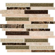 MS International Stonegate Interlocking 12 in. x 12 in. Glass/Stone Blend Mesh-Mounted Mosaic Wall Tile-SGLSGG-SG8MM at The Home Depot