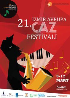 izmir european jazz festival by kenan sevim, via Behance