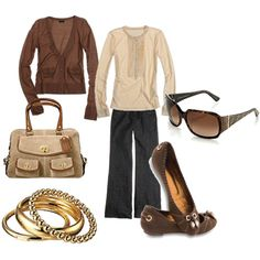 Brown, cream and gold