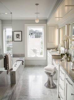 Master Bathroom in Benjamin Moore Decorator's White
