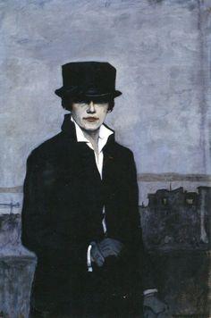 Romaine-Brooks. Autoportrait 1921-1922.