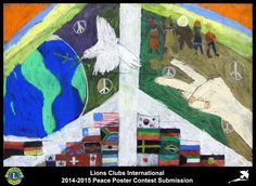 2014-15 Lions Clubs International Peace Poster Competition submission from Landers Lions Club in Wyoming USA