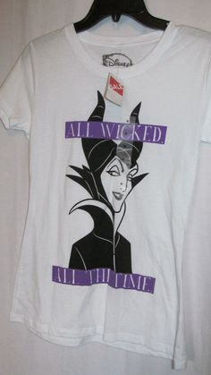 Nwt DISNEY MALIFICENT All wicked All the time white top m ladies $29 retail #Disney #KnitTop #Casual
