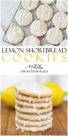 Lemon Shortbread Cookes Easy Recipe. A fresh lemon and sugar glaze tops off these lemon shortbread cookies. They melt in your mouth!