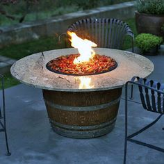 Costco Global Outdoors 27 Wine Barrel Gas Fire Table 199 99 Diy Patio Table Wine Barrel