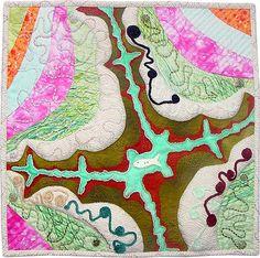 River Fish - fractal quilt by Rose Rushbrooke. Image copyright © Rose Rushbrooke.