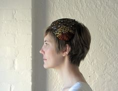 Feather headband  50s hat  1950s fascinator by BlueFennel on Etsy, $42.00