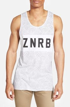 Men's ZANEROBE 'Bloc - Flintlock' Elongated Print Tank