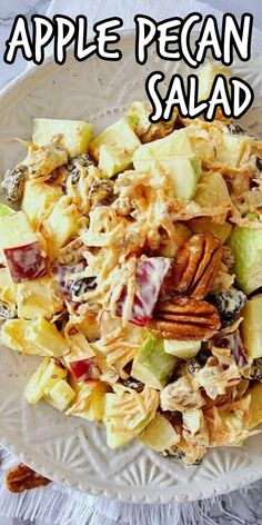Apple Salad with pecans is ready to eat in less than 30 minutes and that includes the chilling time. Mixed apple varieties, more fruit and veggie ingredients make this healthy and vegan apple salad recipe shine with flavor.