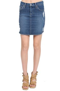 The Daisy Cut Off Skirt in Genevieve by James Jeans at CoutureCandy.com