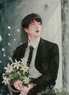 Jin Fanart!! Stunning job to the artist who made this!!!