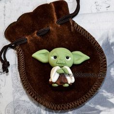 Yoda, Star Wars figure, modellato a mano in FIMO