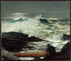 "Winslow Homer ""Driftwood."" Museum of Fine Arts, Boston."
