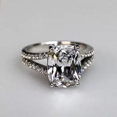 3.85 Ct Cushion Cut Diamond Engagement Wedding Ring