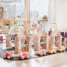 """Little Happy Haus on Instagram: """"Open-ended toys are often described as toys that are 90% child and 10% toy as they leave plenty of room for a child's input. Ten children…"""" Cube Shelves, Wooden Toys, Building, House, Wooden Toy Plans, Wood Toys, Woodworking Toys, Buildings, Construction"""