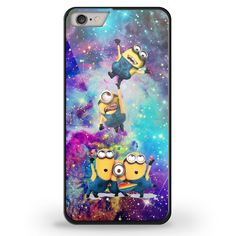 despicable me Minions in galaxy for iPhone 6 Black TPU Case