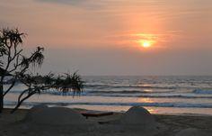 Sunset on Bentota beach, Sri Lanka, December 29 2013.