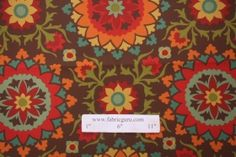 Richloom Cavatina Printed Poly Outdoor Fabric in Espresso $4.95 per yard