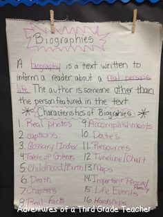 Adventures of the Polka-Dotted Teacher: Biography Unit