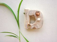 Wooden letter D, wall hanging, wood carving, rustic home decor, reclaimed wood sculpture, Wood art