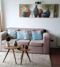 Disfrutando día a día de mi #miespaciohomy que me encanta. Son de @homydeco la mesa de centro, el arbolito y el cuadro. Nada mejor que el propio espacio!! :) #living #miespacio #sillon #livingroom #apartment