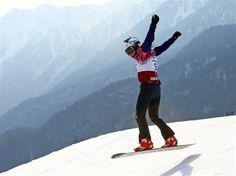 DAY 10:  Eva Samkova of the Czech Republic competes during the Snowboard Ladies' Cross