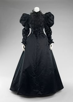 Victorian Mourning Dress, circa 1894.