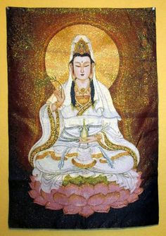 Kuan Yin and Tara Tapestries http://www.thesacredfeminine.com/kuanyin-tapestry.html
