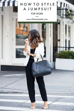 0f60210900d4f How to Style a Jumpsuit for Work | jumpsuit for work | classy jumpsuit for  work
