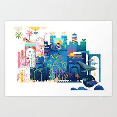 Royals (Sea) Art Print by Kitkat Pecson - $25.00
