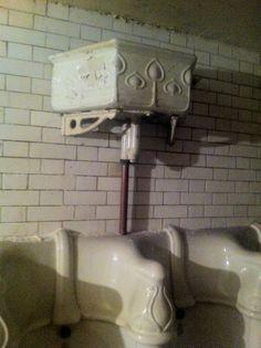 Check out the detailing on the original porcelain inside D at 27 Foley Street London Cafe, Toilet Paper, Porcelain, Bathtubs, Coffee Shops, Toilets, The Originals, Cool Stuff, Street