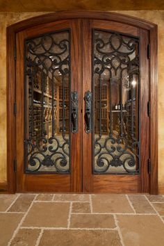 Custom Wrought Iron Doors - traditional - Wine Cellar - Chicago - Miller + Miller Real Estate