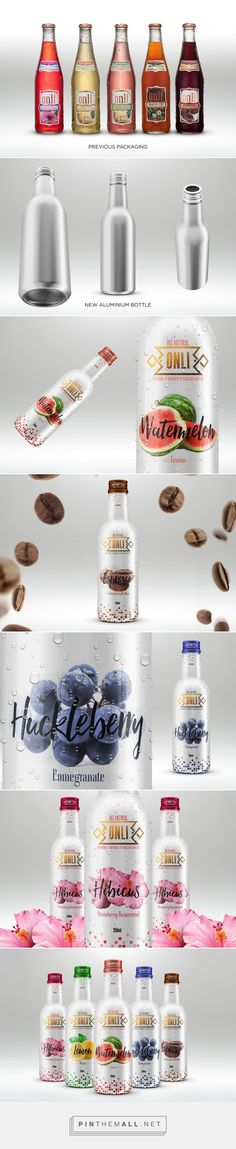 Onli Beverages Packaging Redesign on Behance by Syed Umair ul Hassan Qadri curated by Packaging Diva PD. Beverage packaging design project to redo the design and suggest some more handy material.