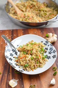 Healthy Chicken Egg Roll Bowl Recipe will be a new family favorite one pot meal. Eat as is, or turn it into potstickers, dumplings, or serve with lo mein!