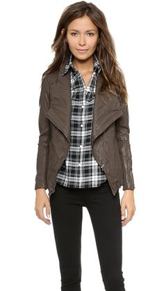 This is faux leather - love it!  three color options, i like the Tobacco but all are cute.