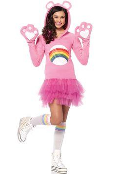 Cheer Bear Teen Costume #Halloween #costumes #carebears #80s