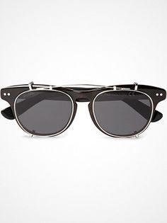 Illesteva Lenox Detachable Front Square-Frame Sunglasses