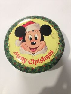 Vintage Walt Disney Productions Merry Christmas Collectible Candy Tin Volume 1 #WaltDisneyProductions