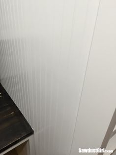How to hide seams in Beadboard - Sawdust Girl® How To Install Beadboard, Beadboard Wainscoting, Wainscoating Ideas, Kitchen Colour Combination, Yellow Cabinets, Bead Board Walls, Sawdust Girl, Kitchen Cabinets And Countertops, Restoration Shop