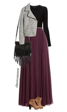 """""""Oxblood maxi skirt for fall"""" by cherrysnoww ❤ liked on Polyvore featuring Proenza Schouler, Halston Heritage, H&M, christopher. kon, Fall, maxiskirt, autumn, oxblood and burgyndy"""