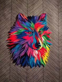 Pop Art Wolf - created by djay - Tranquillity Quilling Paper Quilling Designs, Quilling Cards, Pop Art, Wolf, Pictures, Animals, Diy, Quilling Craft, Paper Envelopes