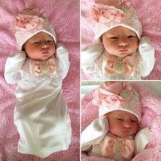 Recién nacido niña tomar vestido ajuar cuentas por NanaJustbananas