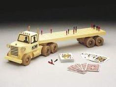 19-w742 - Cribbage Board Truck Woodworking Plan - Woodworkersworkshop® Online…