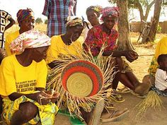 Basket weaving in Ghana |Pinned from PinTo for iPad|