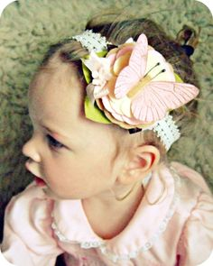 felt flower headband with butterfly... I need to get more crafty for our little girlie!!